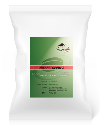 CoffeeWorld Dream Topping 750g